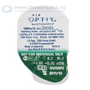 Air Optix for Astigmatism купить